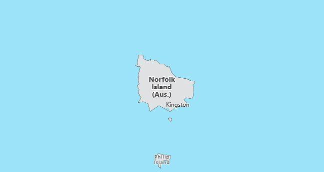 Norfolk Island Map
