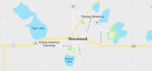 Map of Norwood, MN