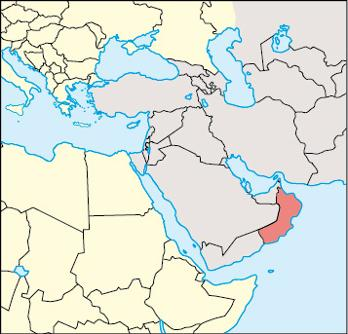 Oman Location Map