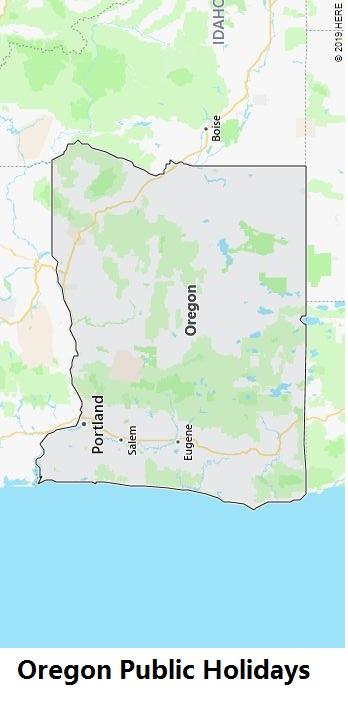 Oregon Public Holidays