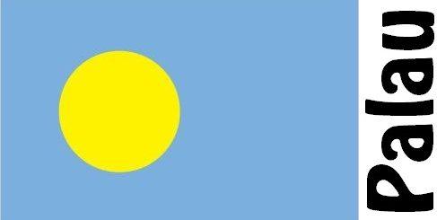 Palau Country Flag