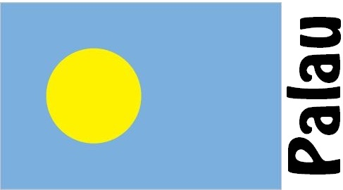 Palau Country Flag