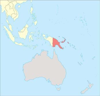 Papua New Guinea Location Map