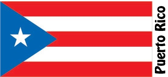 Puerto Rico Country Flag