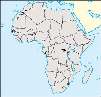 Rwanda Location Map