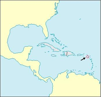 Saint Christopher and Nevis Location Map