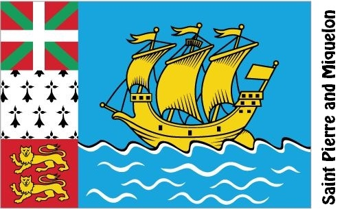 Saint Pierre and Miquelon Country Flag