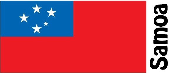 Samoa Country Flag