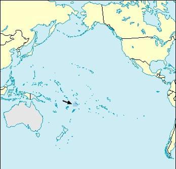 Samoa Location Map