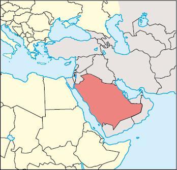 Saudi Arabia Location Map