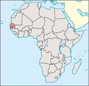 Senegal Location Map