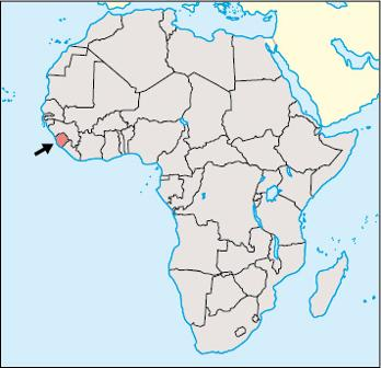 Sierra Leone Location Map