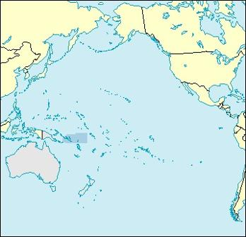 Solomon Islands Location Map