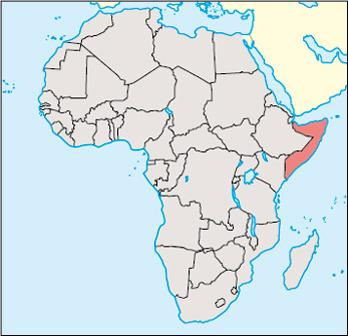 Somalia Location Map
