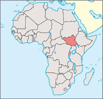 South Sudan Location Map