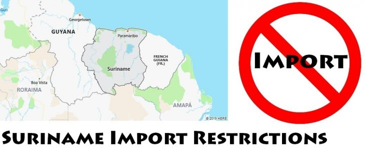 Suriname Import Regulations
