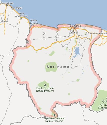 Suriname Map
