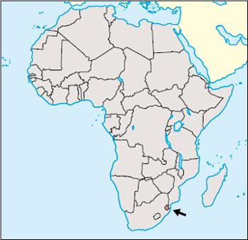 Swaziland Location Map