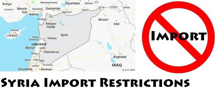 Syria Import Regulations