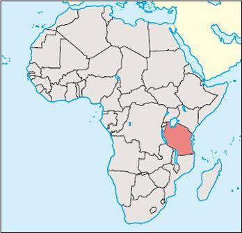 Tanzania Location Map