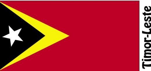 Timor-Leste Country Flag