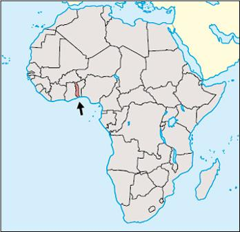 Togo Location Map