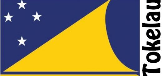Tokelau Country Flag