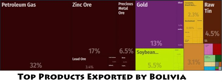 Top Products Exported by Bolivia