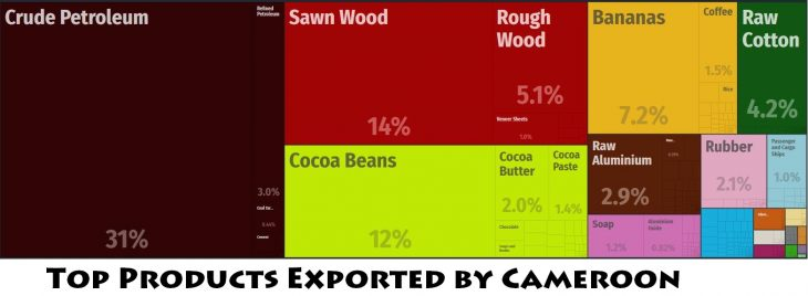 Top Products Exported by Cameroon