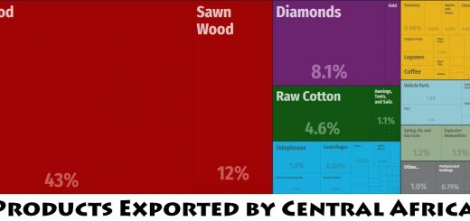 Top Products Exported by Central African Republic