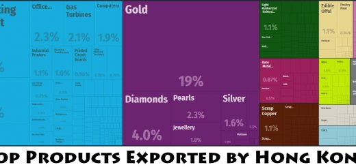Top Products Exported by Hong Kong