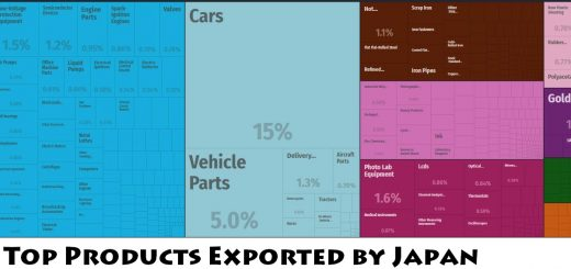 Top Products Exported by Japan