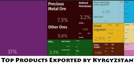Top Products Exported by Kyrgyzstan