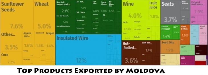 Top Products Exported by Moldova