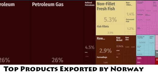Top Products Exported by Norway