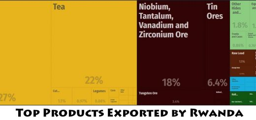 Top Products Exported by Rwanda