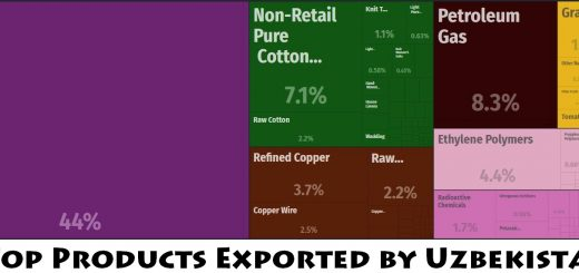 Top Products Exported by Uzbekistan