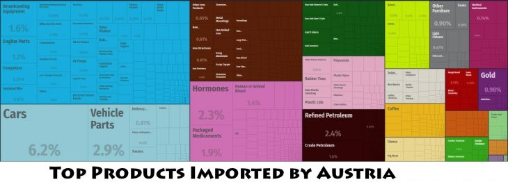 Top Products Imported by Austria