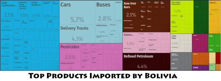 Top Products Imported by Bolivia