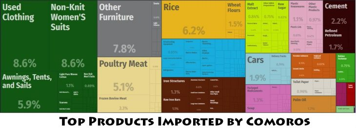 Top Products Imported by Comoros