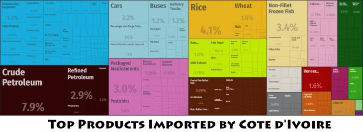 Top Products Imported by Cote d'Ivoire