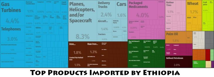 Top Products Imported by Ethiopia