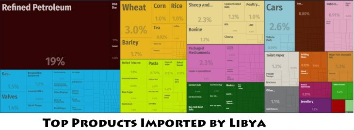 Top Products Imported by Libya