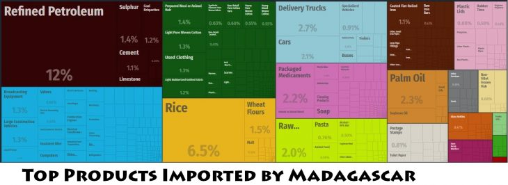 Top Products Imported by Madagascar