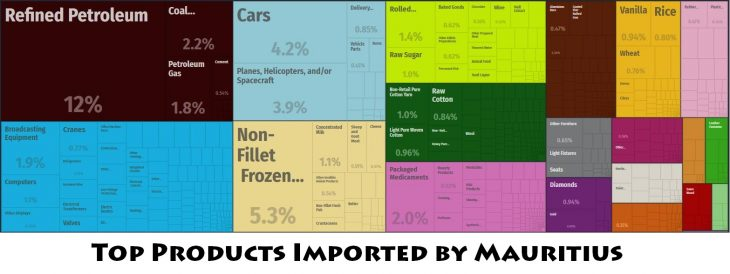 Top Products Imported by Mauritius