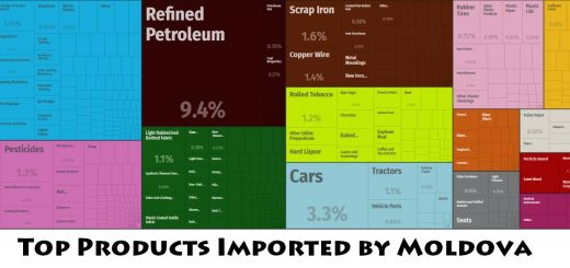 Top Products Imported by Moldova