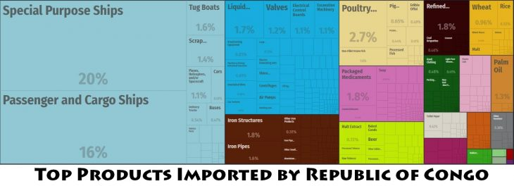Top Products Imported by Republic of Congo