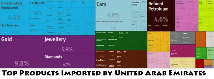 Top Products Imported by United Arab Emirates