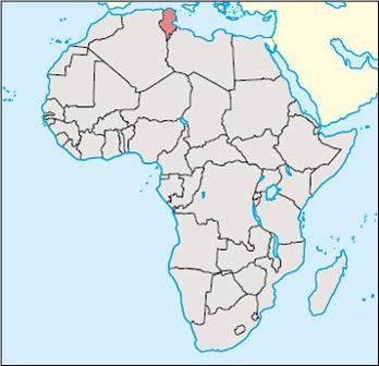 Tunisia Location Map