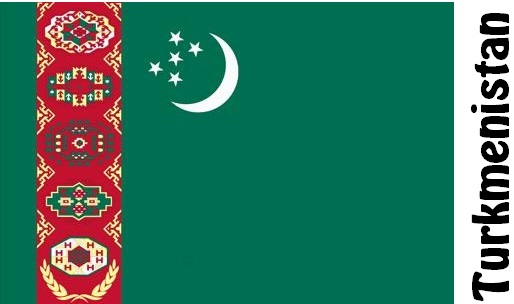 Turkmenistan Country Flag